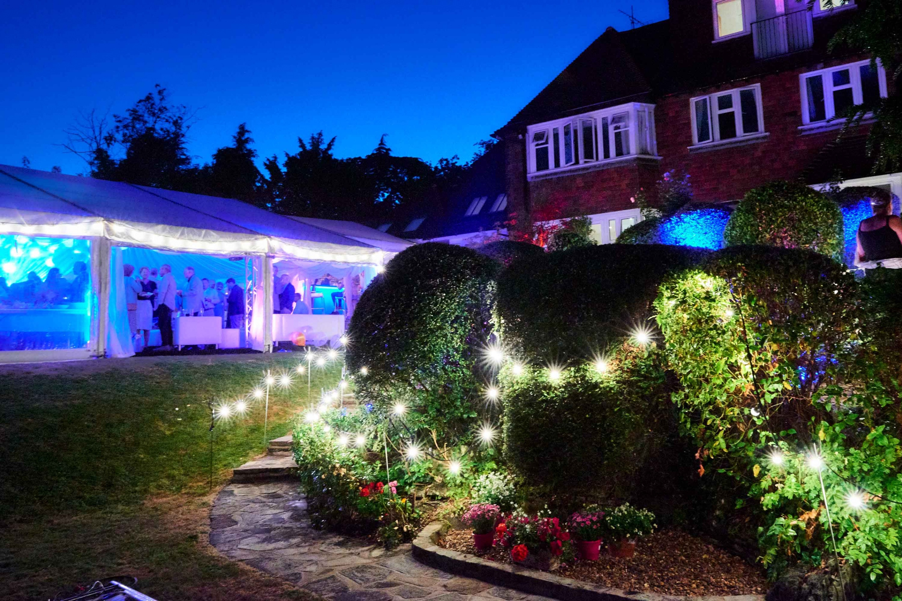 Stephen and Debbie's 50th_Garden Lighting