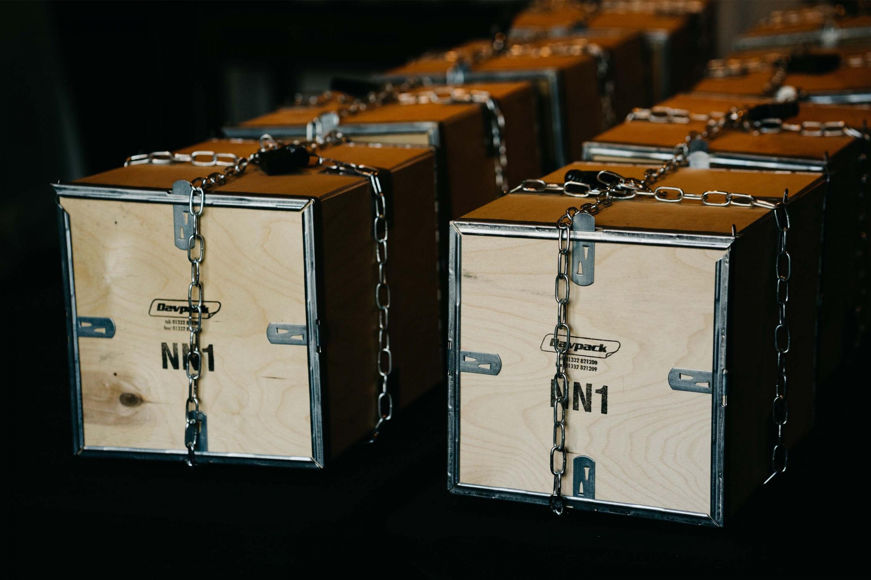 UN Team building padlocked boxes