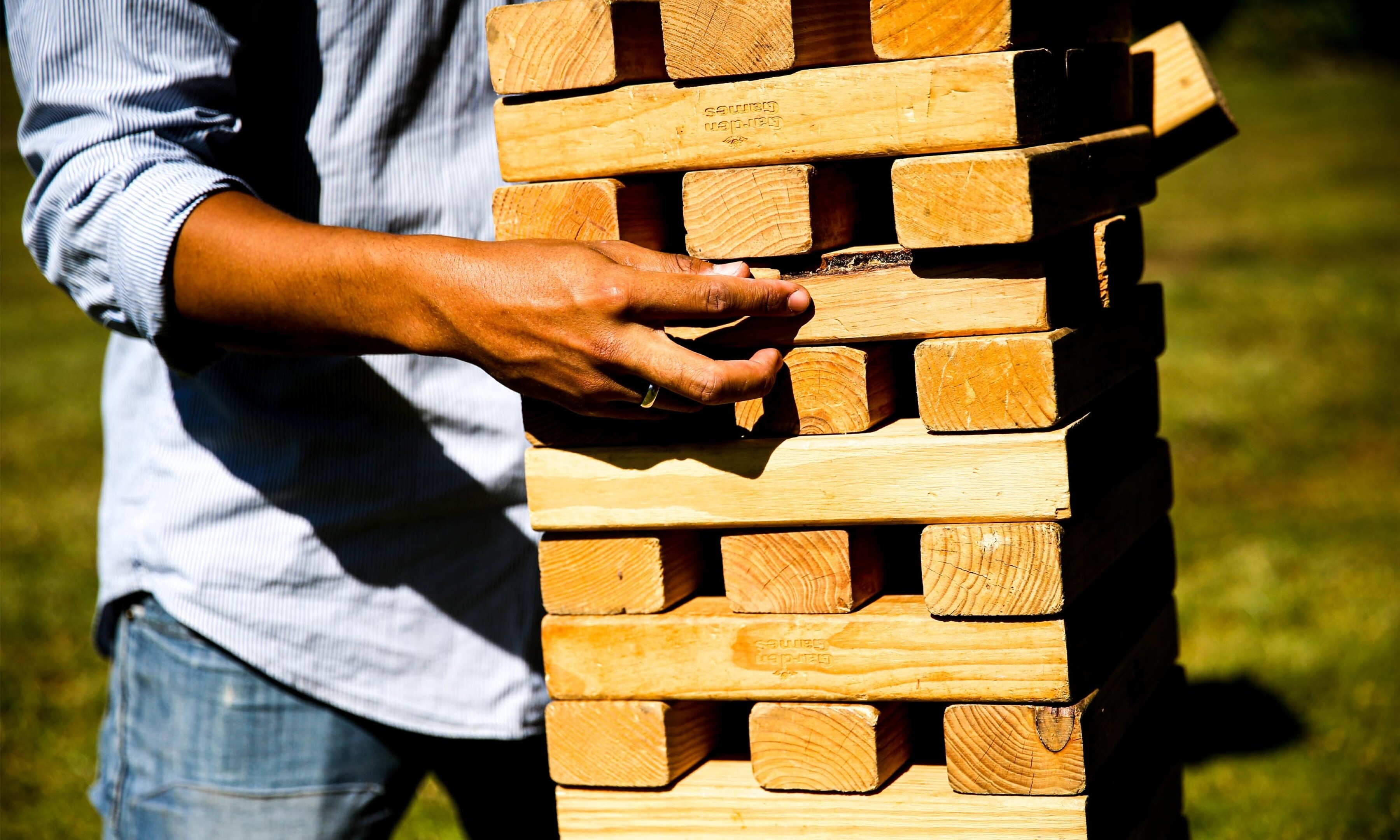 Fetcham summer party giant jenga 4