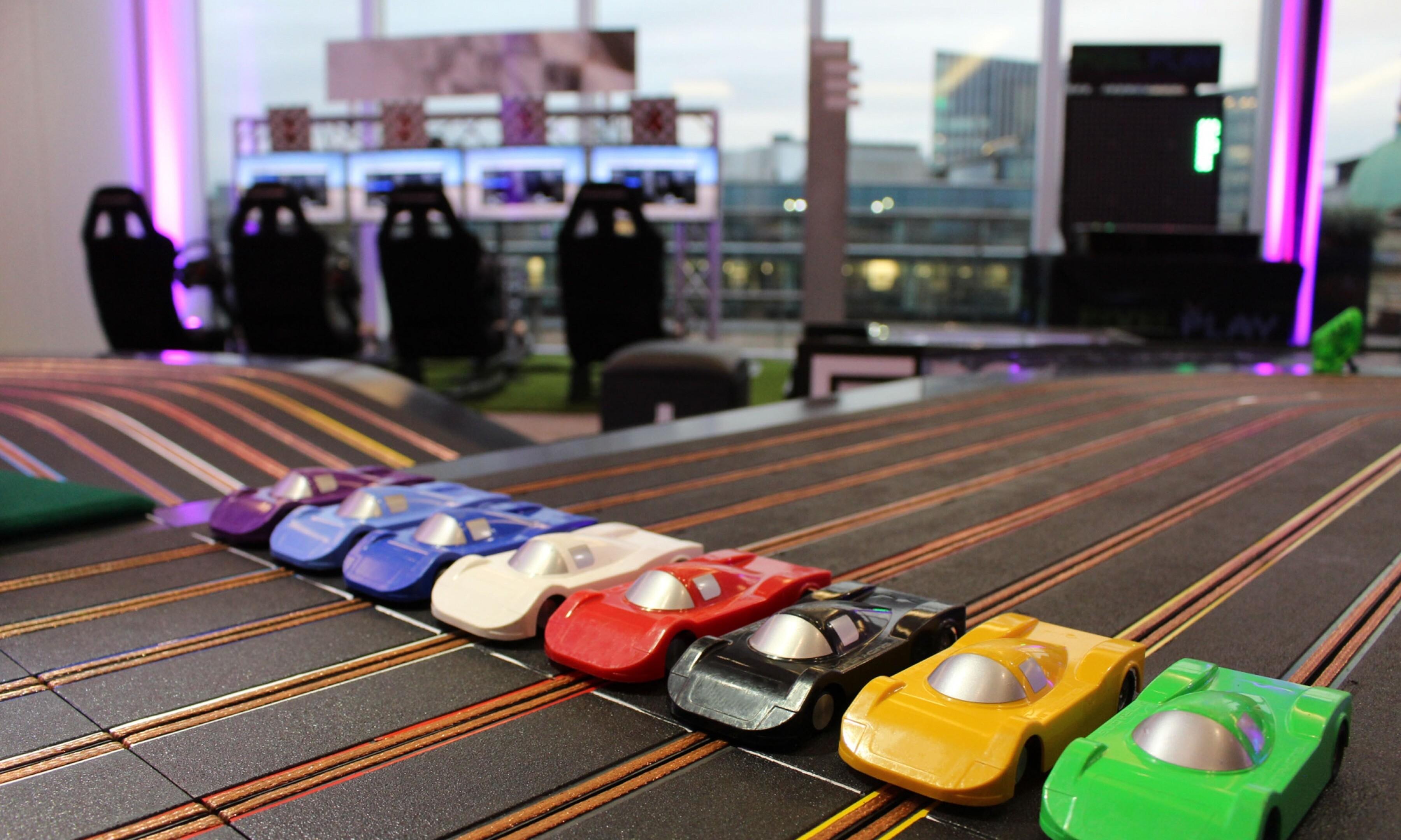 Retro arcade scene Clownfish Event corporate party