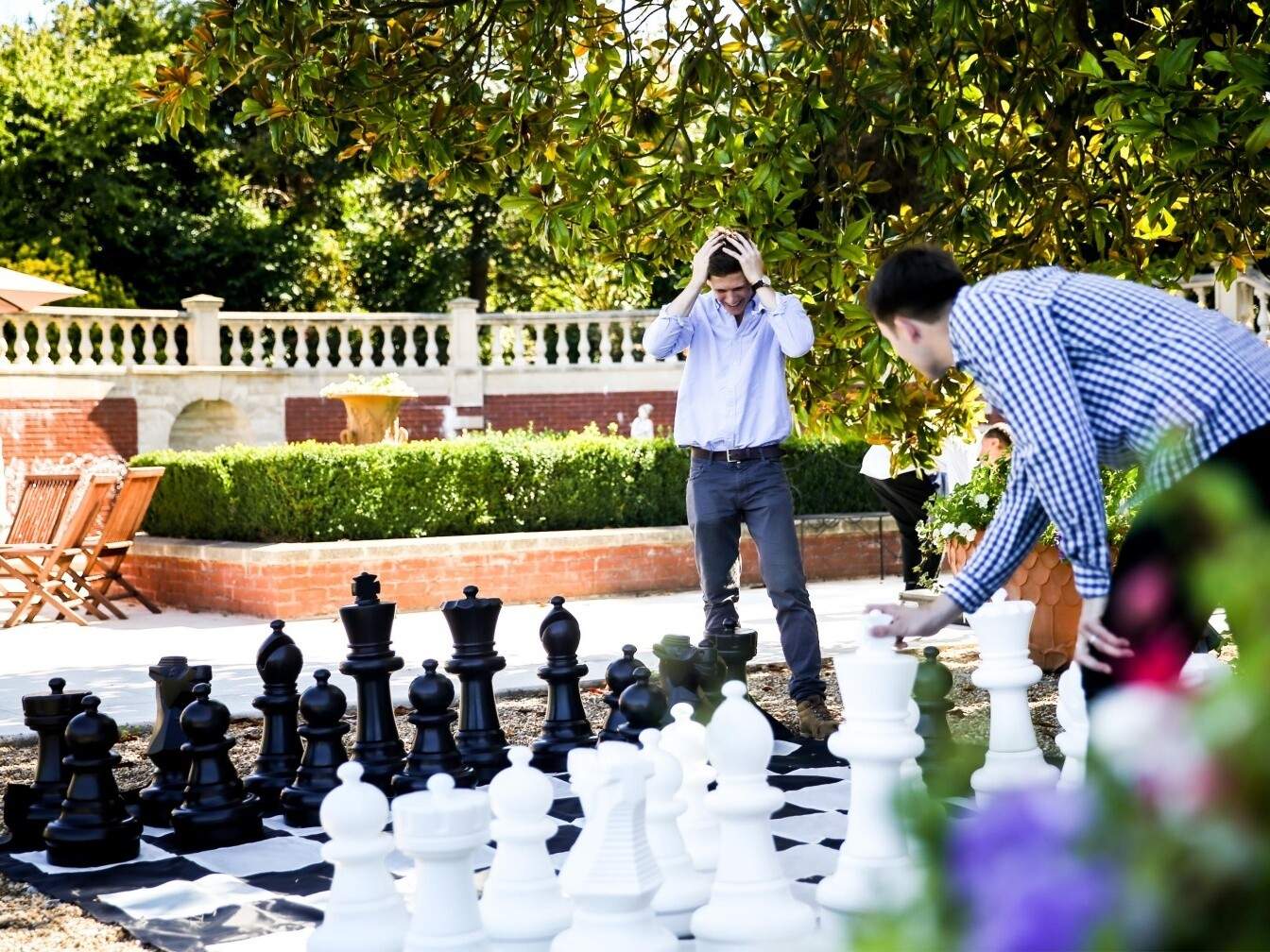Fetcham summer party giant chess 1