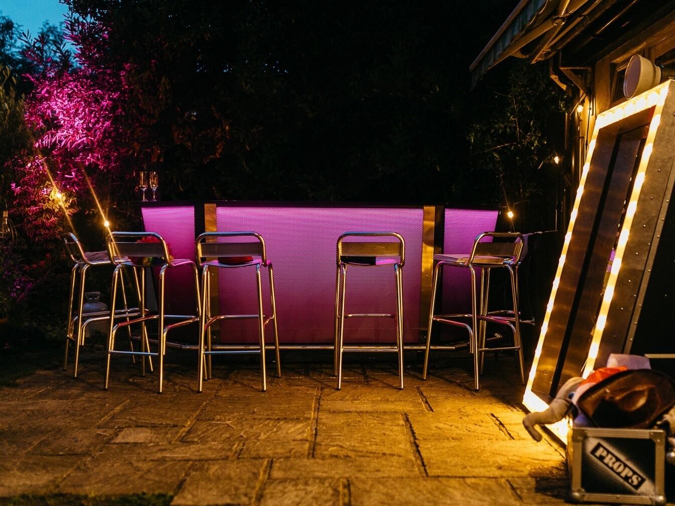 Jonny Edited Illuminated Drinks Bar LED Bar Hire Charlottes Hen Do