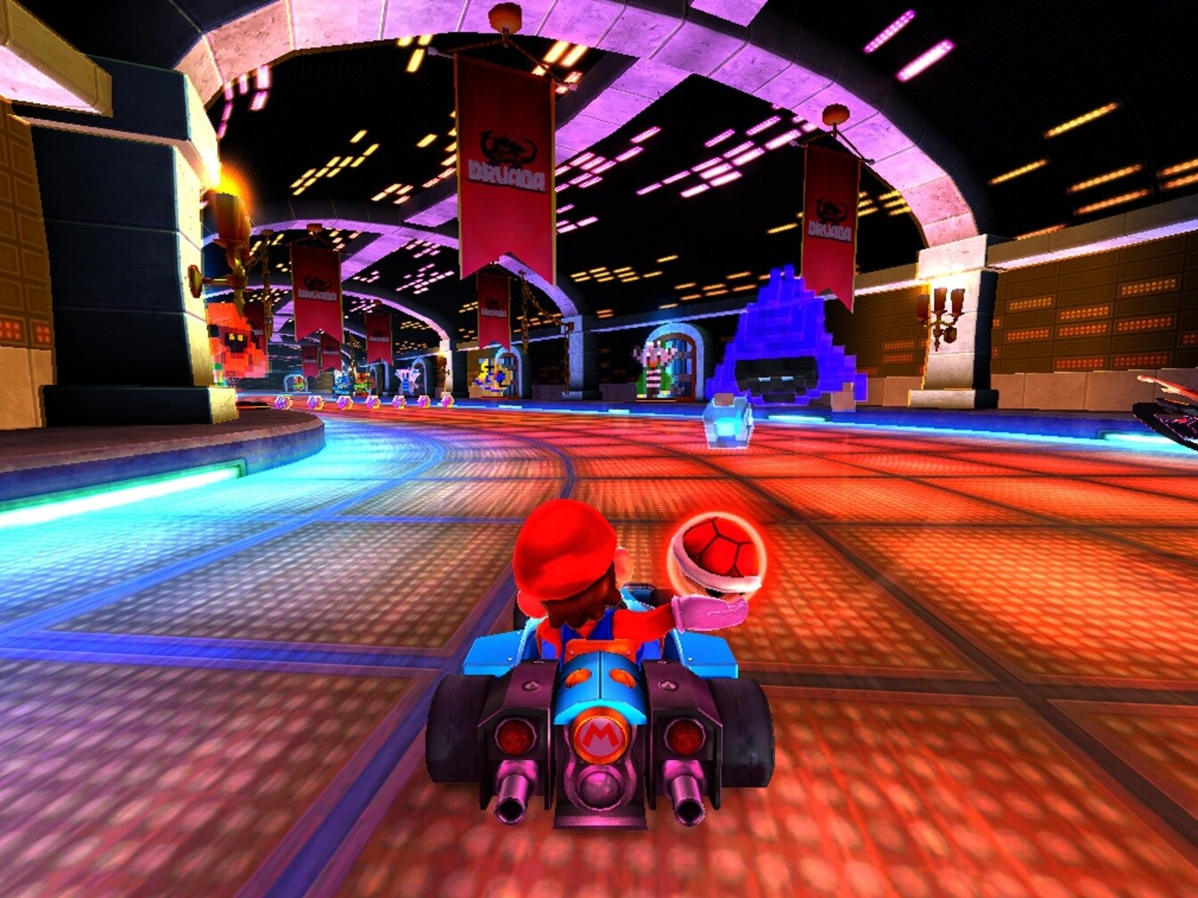 Mario Kart Racing three