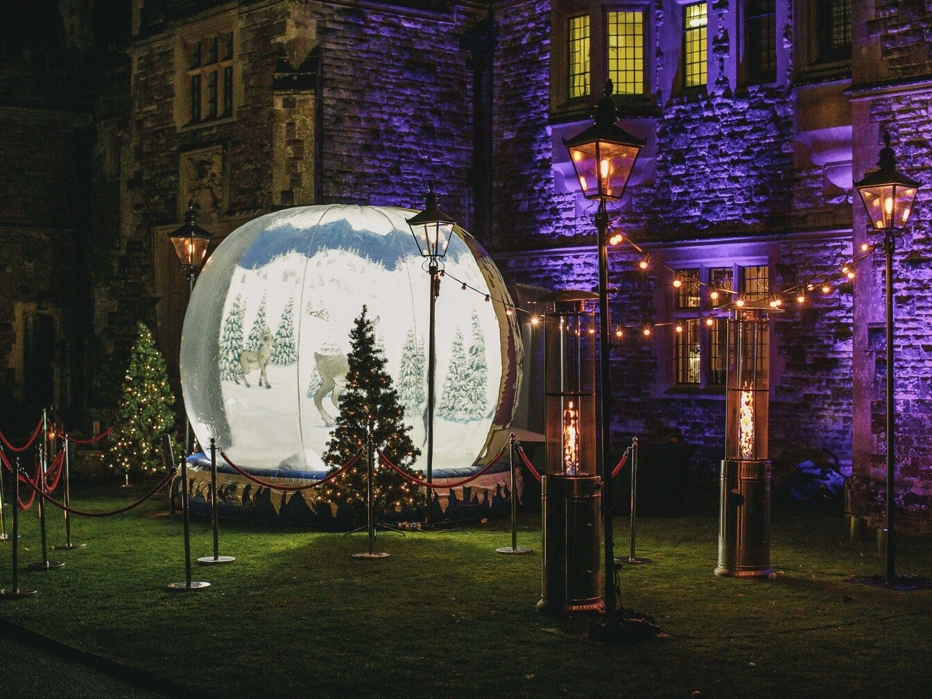 Snow globe party christmas