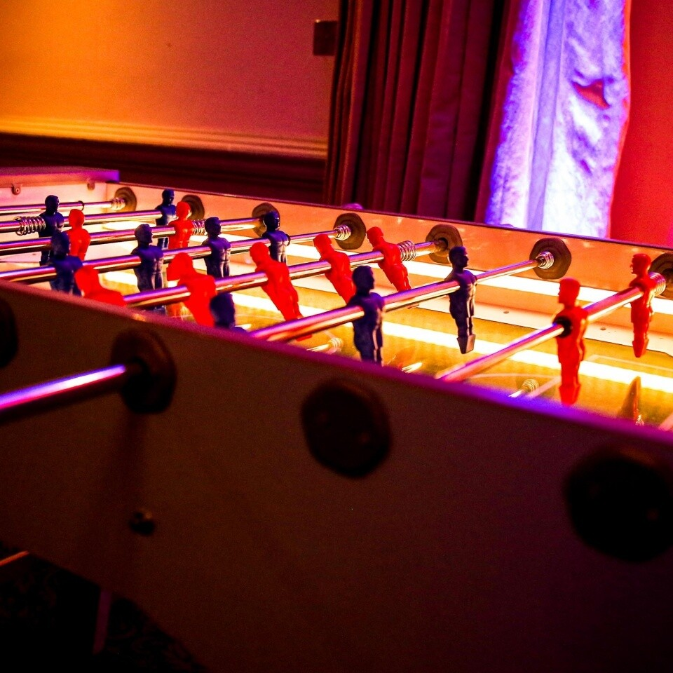 Christmas Party Ideas LED Table Football Arcade Woodlands