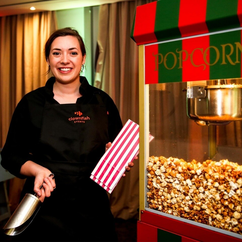 Christmas Popcorn Clownfish Events Fun Food SS Woodlands