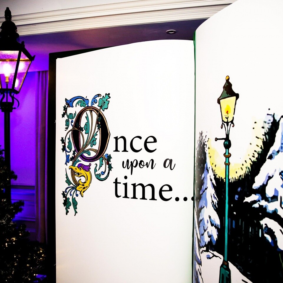 Christmas Giant Book Prop Party Corporate Entertainment Hire London Surrey Woodlands