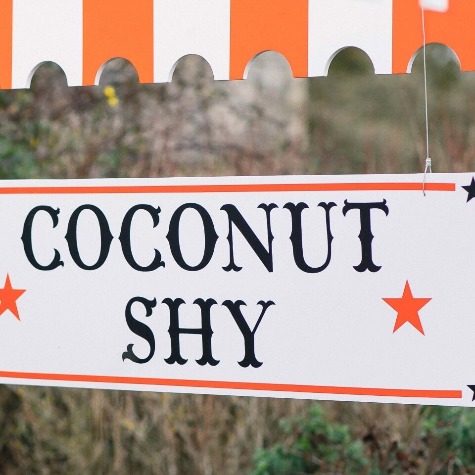 Coconut shy sign