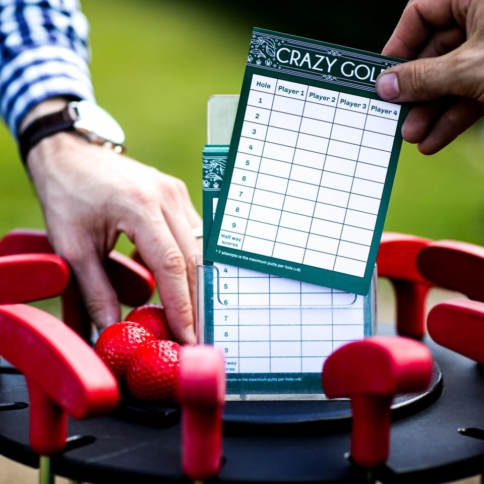 Crazy Golf Hire Clownfish Events Scorecards Fetcham