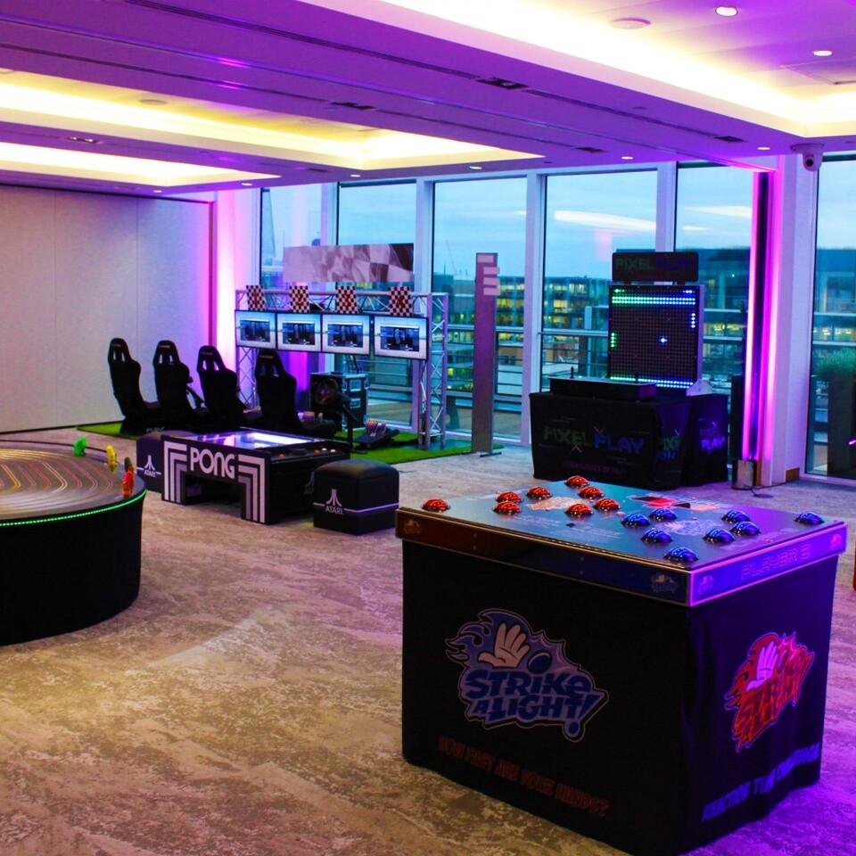 Retro Arcade Scene Corporate Party Event Hire