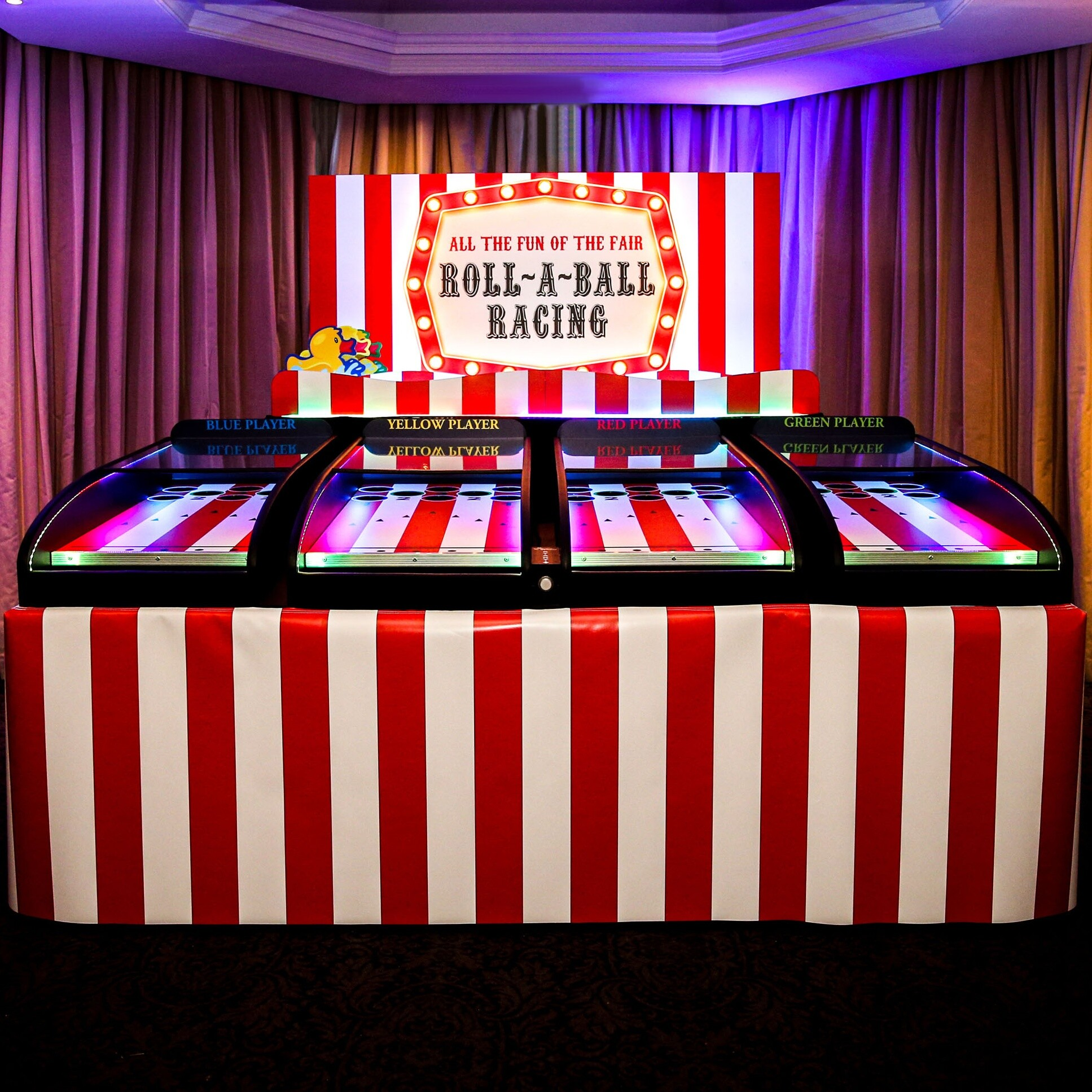 Roll a Ball Racing Fairground Game Clownfish Events Woodlands
