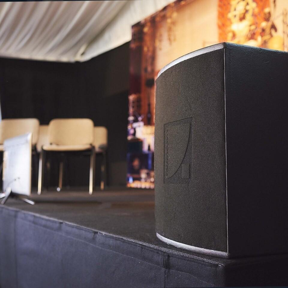 speaker stage Clownfish Events