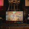 Digital graffiti wall rhinefield house