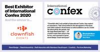 Best Exhibitor of International Confex 2020 linkedIn2