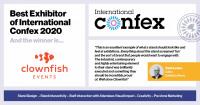 Best Exhibitor of International Confex 2020 linkedIn3