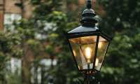 Victorian lamppost garden lighting