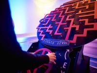 Maze runner retro games indoors