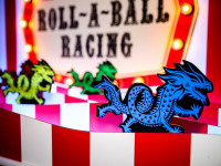 Roll a Ball Racing Fairground Game Dragons Characters Branded Woodlands