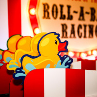 Roll a Ball Racing Fairground Game Duck Characters