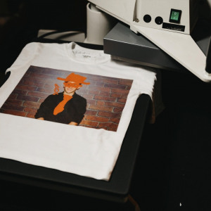 Branded t shirt Clownfish Events Digital graffiti wall