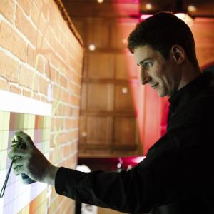Digital graffiti wall Clownfish Events Callum Rhinefield