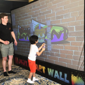Kids Interactive Games Wall Indoor Hire Clownfish Events