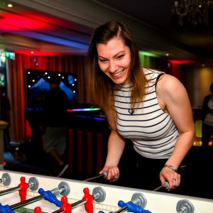 LED Table Football Corporate Party Christmas Woodlands