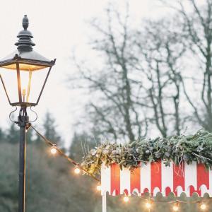 Victorian lamppost festoon lighting