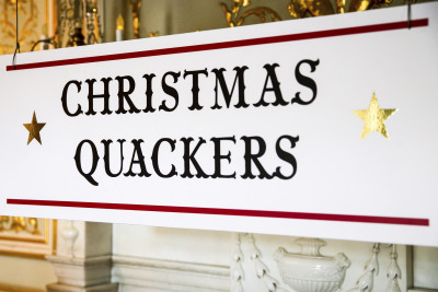 Christmas Quackers Fetcham Sign