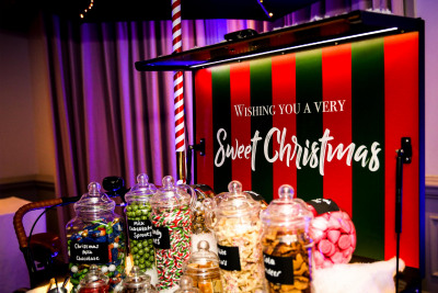 Christmas Sweets Cart Pick n Mix Ideas Woodlands