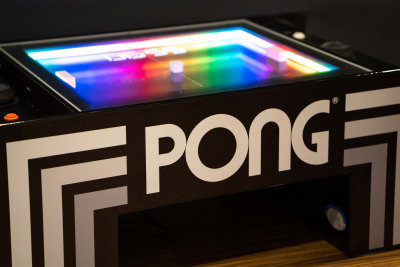 Pong table close up