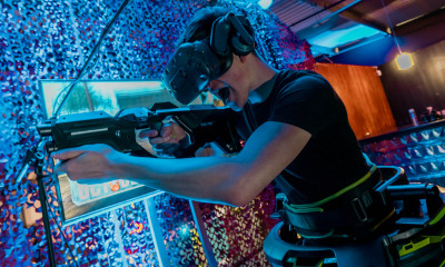 VR Gun Game Hire Entertainment Exhibition Stand Clownfish Events