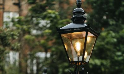 Victorian lamppost garden lighting