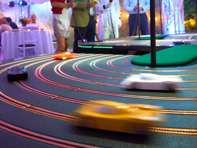 Stephen and Debbie's 50th_Giant Scalextric 2