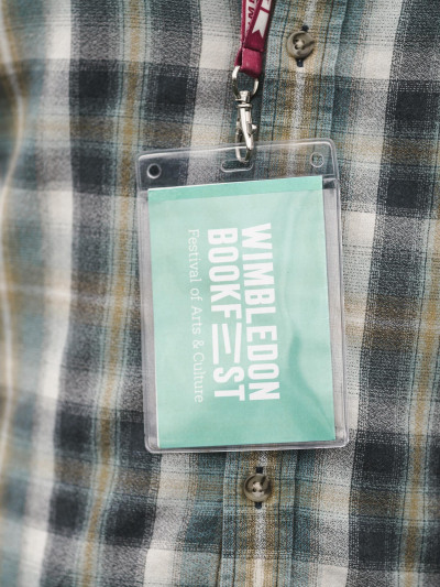 Bookfest Clownfish events lanyard