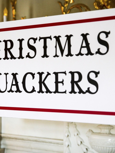 Christmas Quackers Fetcham Sign