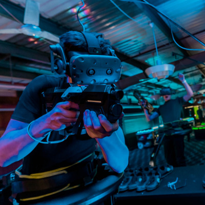 VR Game Hire Shooting Headsets Clownfish Events London Surrey