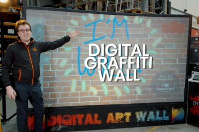 Meet our Digital Graffiti Wall